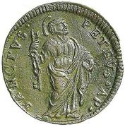 1 Quattrino - Clement XII (St. Peter - standing) – revers