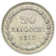 20 baiocchi - Pius IX – revers