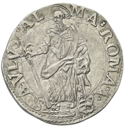 1 Testone - Paul V (St. Paul) – revers