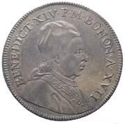 1 Scudo Bolognese - Benedict XIV – avers
