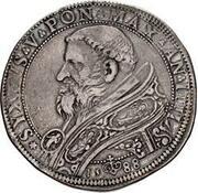 1 Piastra - Sixtus V – avers