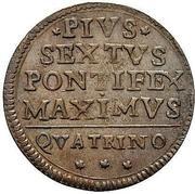 1 quattrino - Pius VI – revers