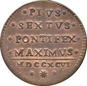 1 baiocco - Pius VI (Sestus) – revers