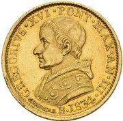 1 doppia Gregory XVI – avers
