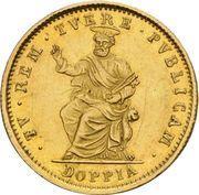 1 doppia Gregory XVI – revers