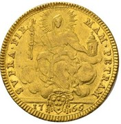 2 zecchini Clement XIII – revers
