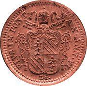 1 quattrino - Pius IX – avers
