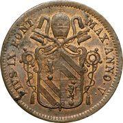 1 baiocco - Pius IX – avers