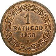 1 baiocco - Pius IX – revers