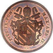 2 baiocchi - Pius IX – avers