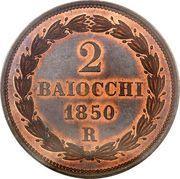 2 baiocchi - Pius IX – revers