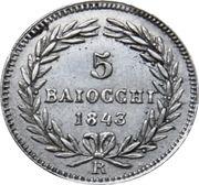 5 baiocchi - Gregoire XVI – revers