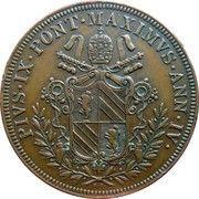 5 baiocchi - Pius IX – avers