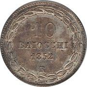 10 baiocchi - Pie IX – revers