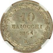 10 baiocchi - Pius IX – revers