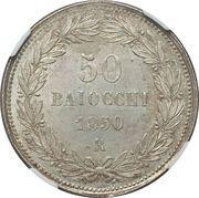 50 baiocchi - Pius IX – revers