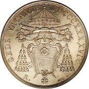 1 scudo - Pius IX (Siege Vacant) – avers