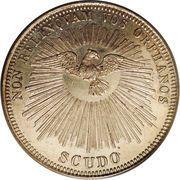 1 scudo - Pius IX (Siege Vacant) – revers