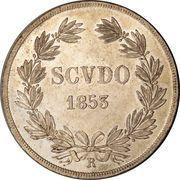 1 scudo - Pie IX – revers