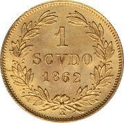 1 scudo - Pius IX – revers