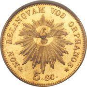 5 scudi - Pius IX (Siege vacant) – revers