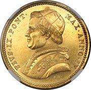 10 scudi - Pius IX – avers