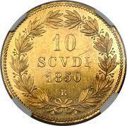10 scudi - Pius IX – revers