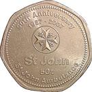 50 toea (Ambulance Saint-Jean) – revers