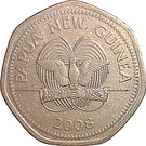50 toea (Anniversaire de la Banque de Papouasie-Nouvelle-Guinée) – avers