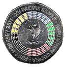 50 toea (XVèmes Jeux du Pacifique, colorisé) – revers