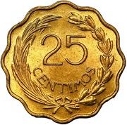 25 centimos -  revers
