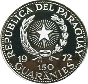 150 Guaraníes (General Alfredo Stroessner) -  avers