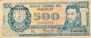 500 Guaranies – avers