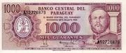 1000 Guaraníes – avers