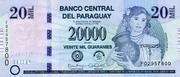 20 000 Guaranies – avers