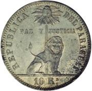 10 reales (Essai en plomb) – avers