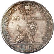 10 reales (Essai en argent) – avers
