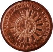 1 Centavo 1854 (Countermark) – avers