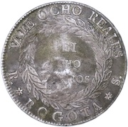 8 reales 1839 RS (Countermark) – revers