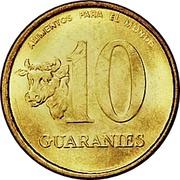 10 Guaraníes (Gold FAO) -  avers