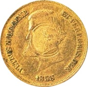 5 Francs 1867 BB (Countermark) – avers