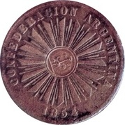 4 Centavos 1854 (Countermark) – avers