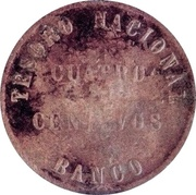 4 Centavos 1854 (Countermark) – revers