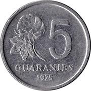 5 guaranies -  avers