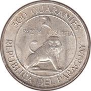 300 guaranies (4ème mandat du président Alfredo Stroessner) -  avers