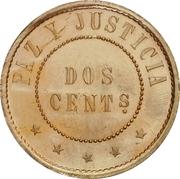 2 centimos (Essai, laiton) – revers