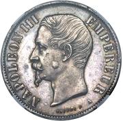 10 reales Napoleon III (essai, hybride) – avers