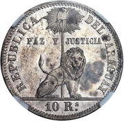 10 reales Napoleon III (essai, hybride) – revers