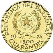 1500 Guaraníes (Ludwig van Beethoven) -  avers