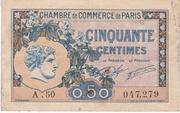 50 centimes - Chambre de Commerce de Paris [75] (2eme type) -  avers